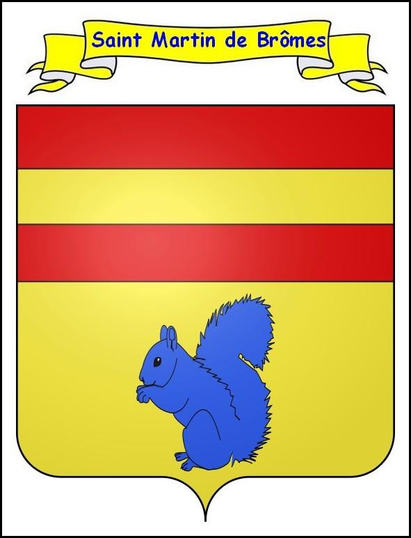 Blason de Saint-Martin-de-Brômes