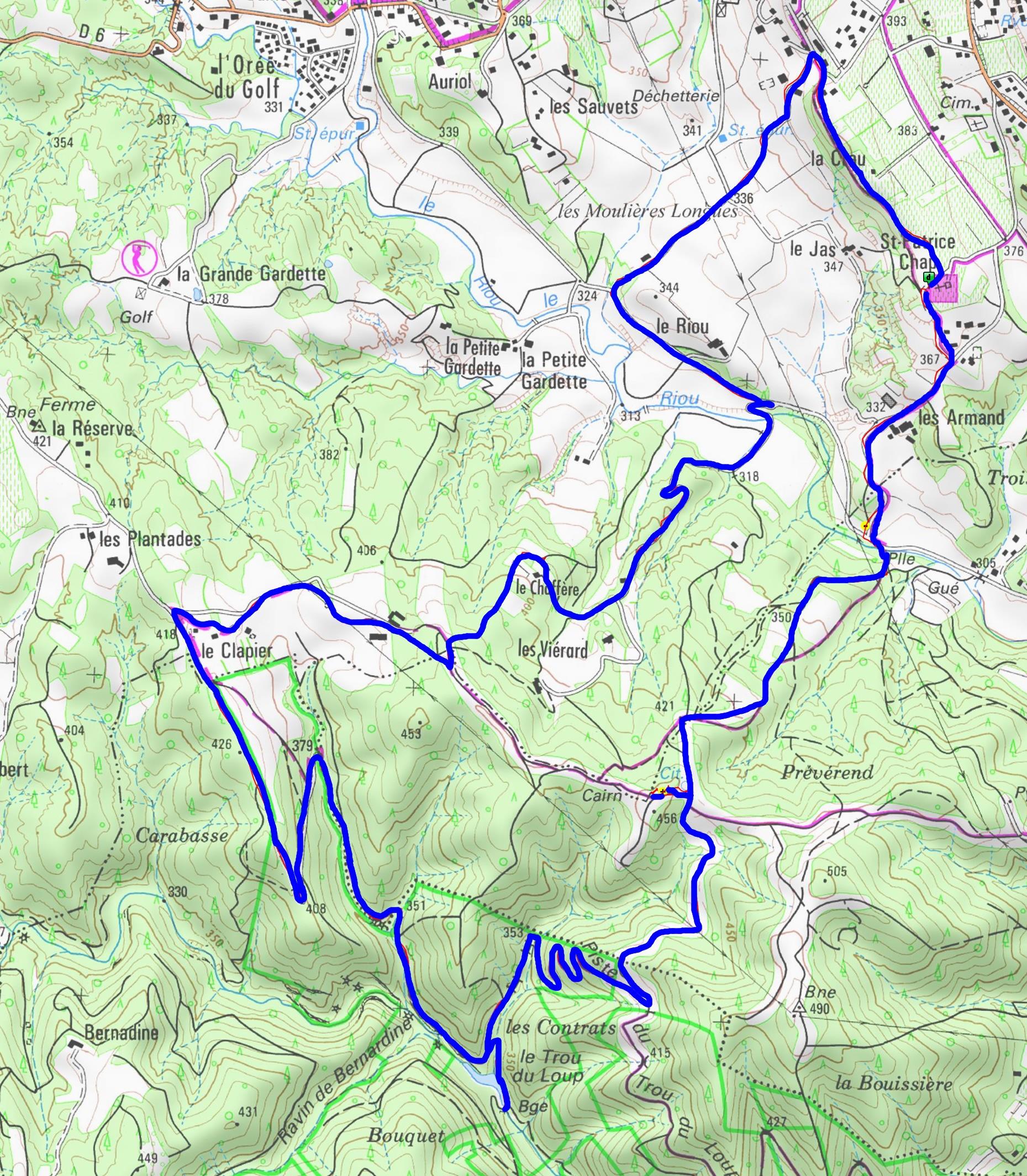 Carte de notre itinéraire