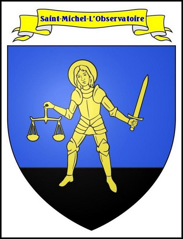 Le blason de Saint Michel l'Observatoire
